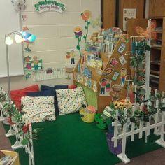 Classroom library {garden theme}