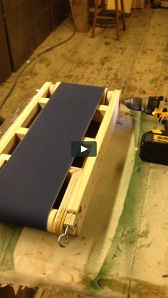 """This is """"sander by Little Bear Canoe Company on Vimeo, the home for high quality videos and the people who love them. Woodworking Table Saw, Woodworking Projects Diy, Woodworking Jigs, Carpentry, Wood Tools, Diy Tools, Diy Belt Sander, Wood Shop Projects, Easy Projects"""