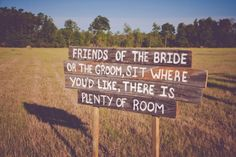 Sit Wherever You Like Sign For Wedding