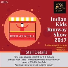 Hi #Participate in a #prestigious event!! #Promote your #business and create more visibility ....If you are interested to became a part of our biggest fashion show as a #Sponsors, #Designer, #Models, #Volunteer or #Fashion #Photographers, kindly apply in your interested area. Call Now : 7838881357,7838881353  Mail Us : management@eeltdindia.com website : http://www.eeltdindia.com/IKRS.html https://www.facebook.com/Indiankidsrunwayshow/ #IKRS #fashionshow #kidsfashionshow #kidsdesigning…