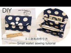 ミニ財布の作り方 DIY How to make a small wallet sewing tutorial - YouTube