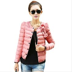4 Colors Fashion Women Coat 2016 Winter Overcoat Women's Winter Jackets Slim O-neck Ladies Parkas Plus Size XXL