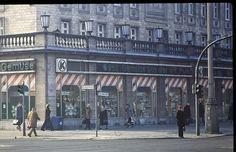 East Berlin - February 1982 - Karl-Marx-Allee - Konsum grocery store