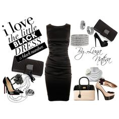 Little black dress and 3 looks, created by lunanativa on Polyvore