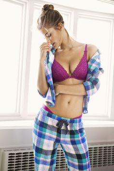 Aerie Plaid Flannel Night Shirt & Aerie Perfect PJ Pant ...