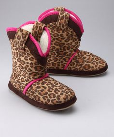 Take a look at this Little Leopard Cowgirl Slipper by Cicciabella on #zulily today!
