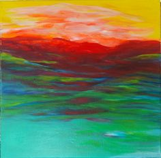 Check out this item in my Etsy shop https://www.etsy.com/listing/256238440/original-abstract-mountain-landscape