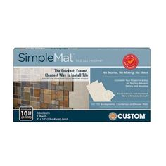 Custom Building Products SimpleMat 10 sq. ft. Tile Setting Mat-SM10R1 - The Home Depot