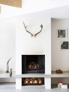 Fireplace at Beatty Ave home of Penny and Ben Melbourne, Australia  PHOTO Toby Scott for issue #6