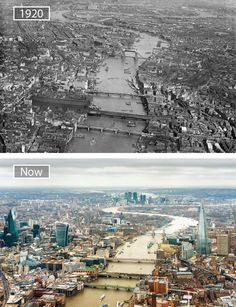 22 Jaw-Dropping Before-And-After Pics Showing How Famous Cities Have Changed – UltraLinx City Of London, Old London, Then And Now Pictures, Before And After Pictures, Old Pictures, Travel Around The World, Around The Worlds, London History, Photos Voyages