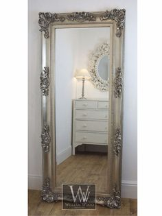 "Georgina Silver Ornate Leaner Antique Floor Mirror 68"" x 30"" X Large in Home, Furniture & DIY, Home Decor, Mirrors   eBay!"