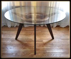 Best Foyer Table Images On Pinterest Foyer Foyers And Glass - Glass top mid century dining table