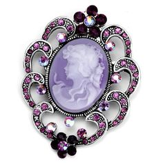 purple cameo.