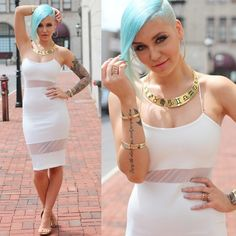 Missguided Dress, By Samii Ryan Necklace Shaved Hair Women, Half Shaved Hair, Undercut Hairstyles, Trendy Hairstyles, Shaved Hairstyles, Buzz Cut Women, Chica Punk, Hair With Flair, Blonde Updo