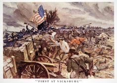 Civil War Art, The Siege, America Civil War, Military Art, Historical Photos, Battle, History, Civil Wars, Revolutions