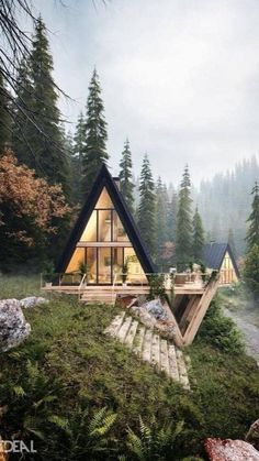 Container Home Designs, Architecture Cool, A Frame House Plans, Best Modern House Design, Modern Wood House, Design Exterior, Cabin In The Woods, Single Family, Nature Adventure