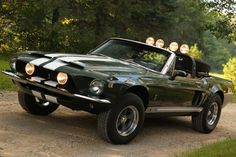 Recreation of the Thomas Crown Affair movie mustang