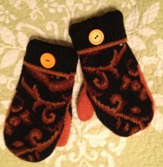 Warm woolen mittens  I make them from felted by TheYankeeBelle, $20.00