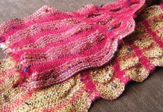Collapse weave, scallop_scarves