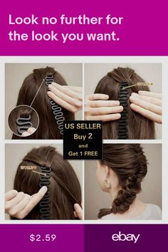 Braiders Enthusiastic Waves Braider Tool Fashion Lady French Magic Hair Braiding Black Fish Bond Twist Styling