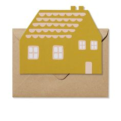 Stationary – Shaped Greeting Card – House Card – Envelope