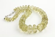Gem of a Gift Idea #16: Faceted Lemon Quartz Beads - 21 inches. Special Holiday Deal - Was $450; NOW $225! (Seven Fields Location)