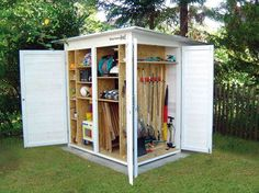 31 Wonderful Unique Small Storage Shed Ideas For Your Garden. If you are looking for Unique Small Storage Shed Ideas For Your Garden, You come to the right place. Below are the Unique Small Storage S. Garden Shed Diy, Garden Storage Shed, Outdoor Storage Sheds, Backyard Sheds, Diy Shed, Outdoor Sheds, Garden Tools, Garage Storage, Small Garden Storage Ideas