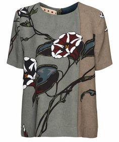 Marni - Damen Bluse #marni #fashion #flowers