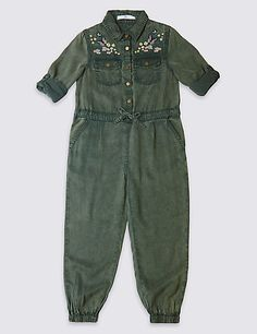 Embroidered Jumpsuit (3-14 Years)