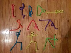 Yoga poses with pipe cleaners.  This is so cool!  #fb <3 Gaileee  Pipe Cleaner Yoga!