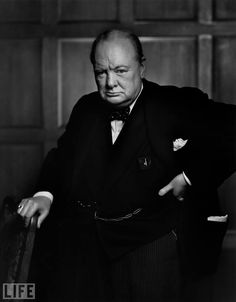 Karsh, one of the best portrait photographers of all time... Winston Churchill: Photo by Yousuf Karsh, 1941