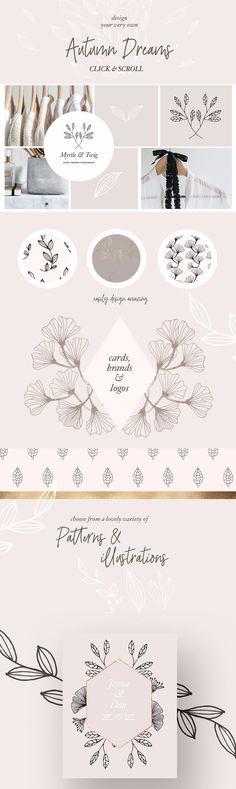 Fall/Winter Patterns & Illustrations by Laras Wonderland on @creativemarket