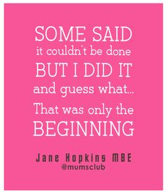 Words of wisdom from an award winning Business Woman