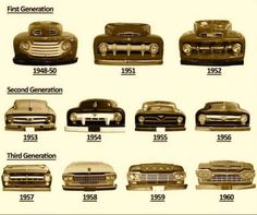 1948 to 60 Ford truck visual ID guide