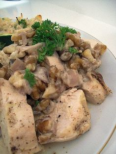 Welcome to the Mystery of Albania: Albanian traditional food:recepies - Veal or chicken with walnuts