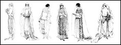 Bridal dress styles below date from 1920 to 1923..These 1920's wedding dress styles below date from 1920 to 1923 and may also help you date an image.  Note all the headdresses which all have the similar mobcap features.