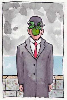 """""""O Filho do Homem"""", de Magritte   by Shitty"""