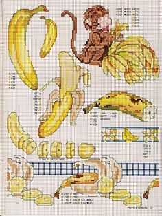 Banana cross stitch
