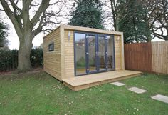 Garden room plans Planning permission isnt needed for lots of sorts of garden building, as long as you reach the right conditions. Contemporary Garden Rooms, Garden Office, Backyard Office, Tiny House Cabin, Planning Permission, Garden Studio, Casement Windows, Shed Design, Garden Buildings