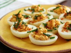 Deviled eggs with smoked paprika, coriander, cumin, and ancho chile powder.  Actual devil not included.