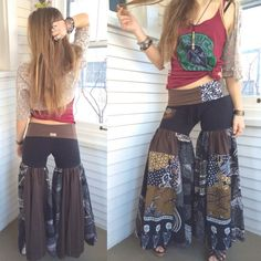 Patchwork flare pants, hooper, funky, hippie, hippie fashion, eco, recycled, upcycled, repurposed fashion, sustainable, shop small
