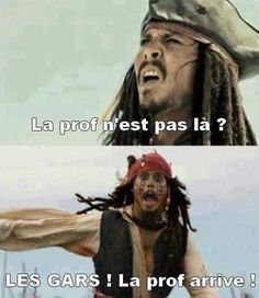 Je te troll ou pas added a new photo. Funny Facts, Funny Jokes, Hilarious, Memes Humor, Rage, Funny French, Captain Jack, Pirates Of The Caribbean, Johnny Depp
