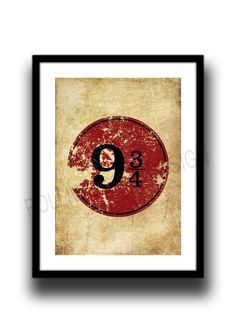 9 and 3/4, Fan Art, print, poster, by melOnDesign on Etsy