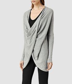 Women's Itat Shrug (Grey Marl)