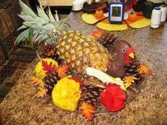 pineapple turkey centerpiece