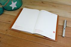 This Leather Hobonichi Cousin Cover, Tan Leather, is excellent to protect your A5 planner.  strideridge.com discount code at - http://eepurl.com/bLaqOH