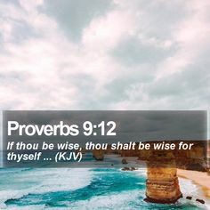 Proverbs 9:12 If thou be wise, thou shalt be wise for thyself ... (KJV)  #Motivational #Humble #YouthMinistry #WordOfWisdom http://www.bible-sms.com/