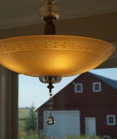 Antique light fixture hanging in my grandparents' Idaho farmhouse