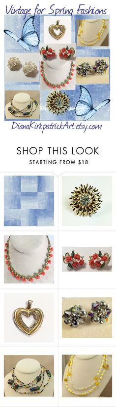 """""""Vintage for Spring Fashions"""" by diana-32 ❤ liked on Polyvore featuring vintage"""