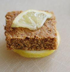 Vegan Whole Wheat Lemon Blondies | HealthySlowCooking.com ~ http://healthyslowcooking.com